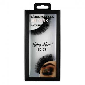 Cílios Postiços 6D-03 Mink - Hello Mini
