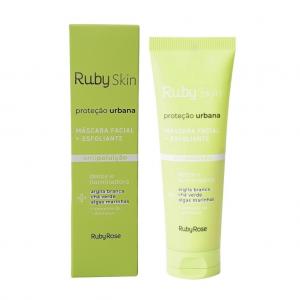 Máscara + Esfoliante Facial Proteção Urbana - Ruby Rose