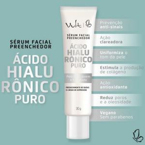 Sérum Facial Preenchedor Ácido Hialurônico Puro - Vult